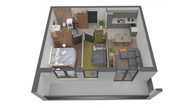 Mieszkanie 56.66 m2