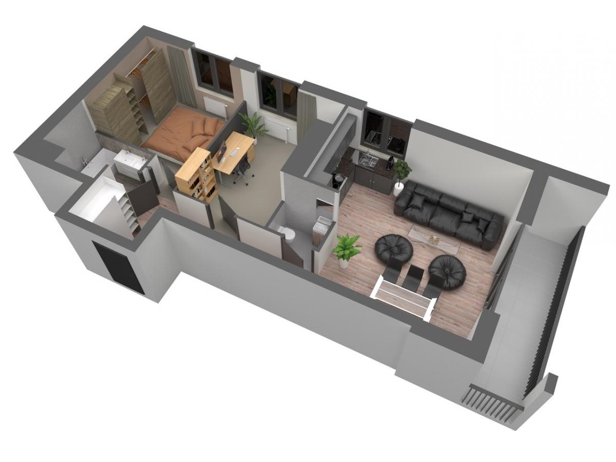 Mieszkanie 66,46 m2, Warszawska/Lubelska, Rzeszów