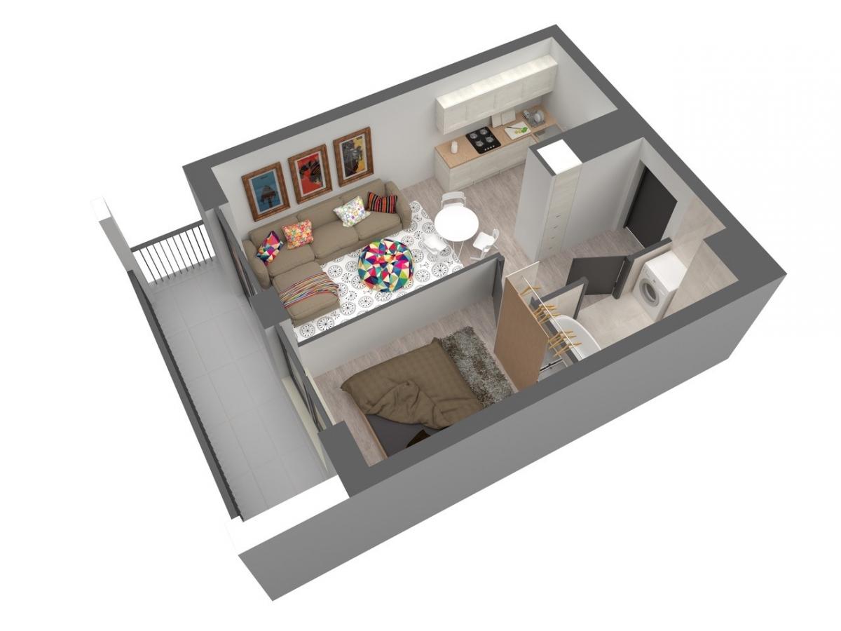 Mieszkanie 35,4 m2, Warszawska/Lubelska, Rzeszów