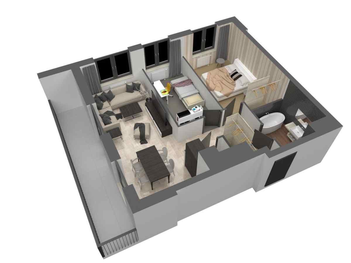 Mieszkanie 60,79 m2, Warszawska/Lubelska, Rzeszów