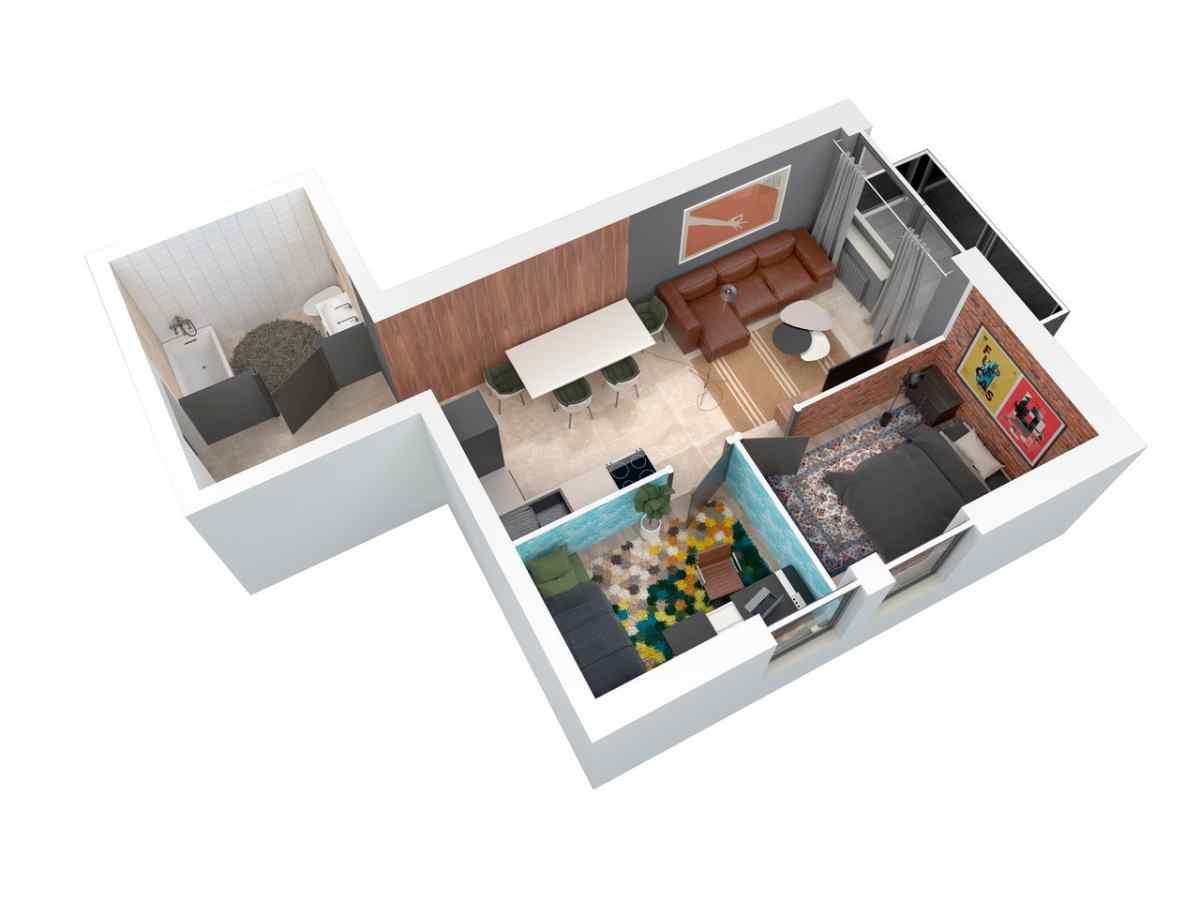 Mieszkanie 48,35 m2, Architektów, Rzeszów