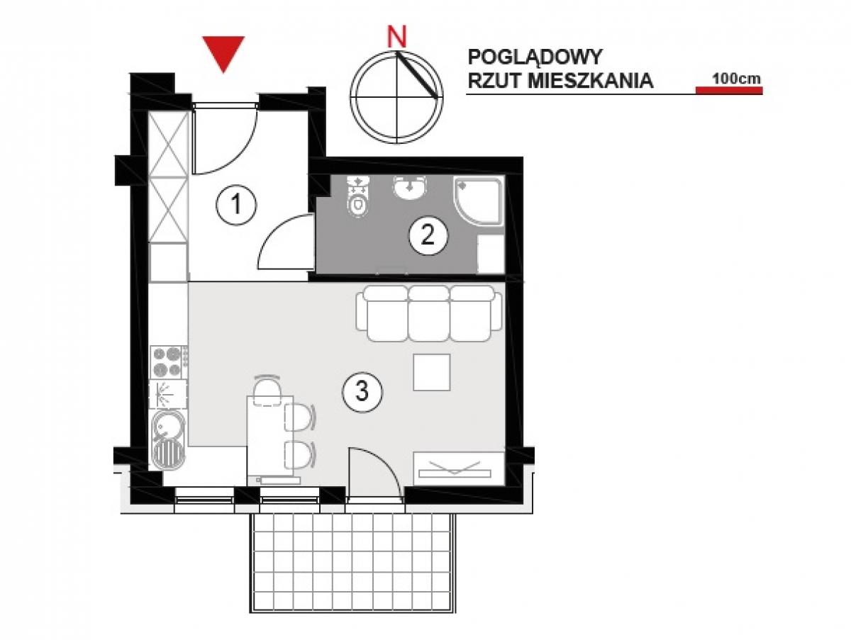 Mieszkanie 27,29 m2, Architektów, Rzeszów