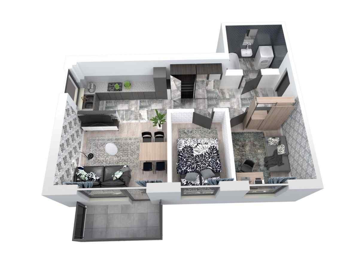 Mieszkanie 59,15 m2, Architektów, Rzeszów
