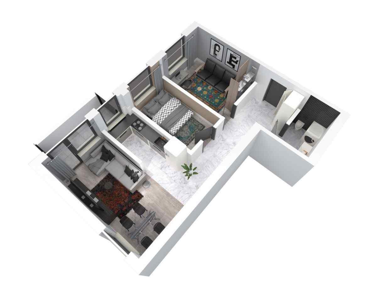 Mieszkanie 60,41 m2, Architektów, Rzeszów