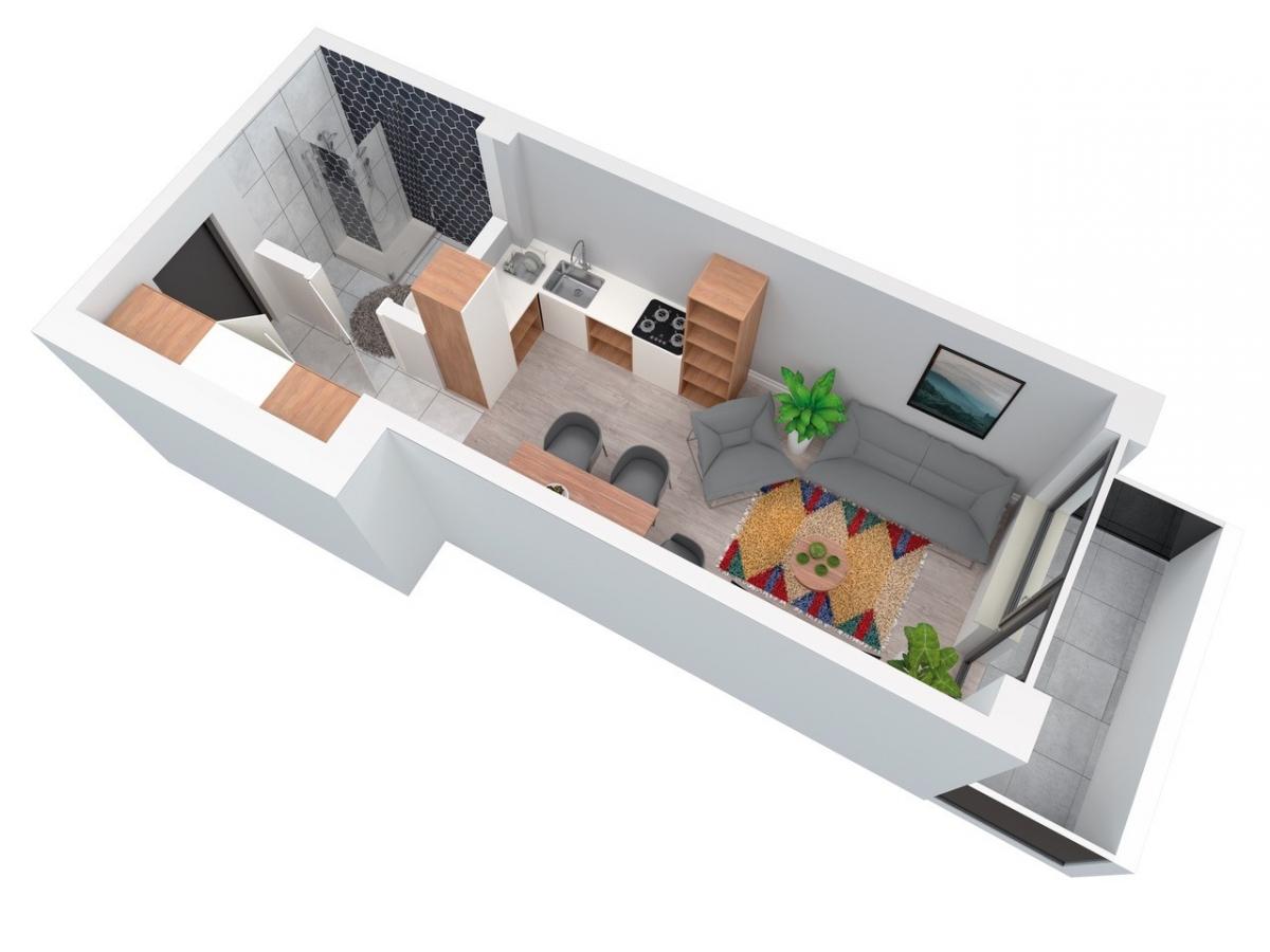 Mieszkanie 27,47 m2, Architektów, Rzeszów