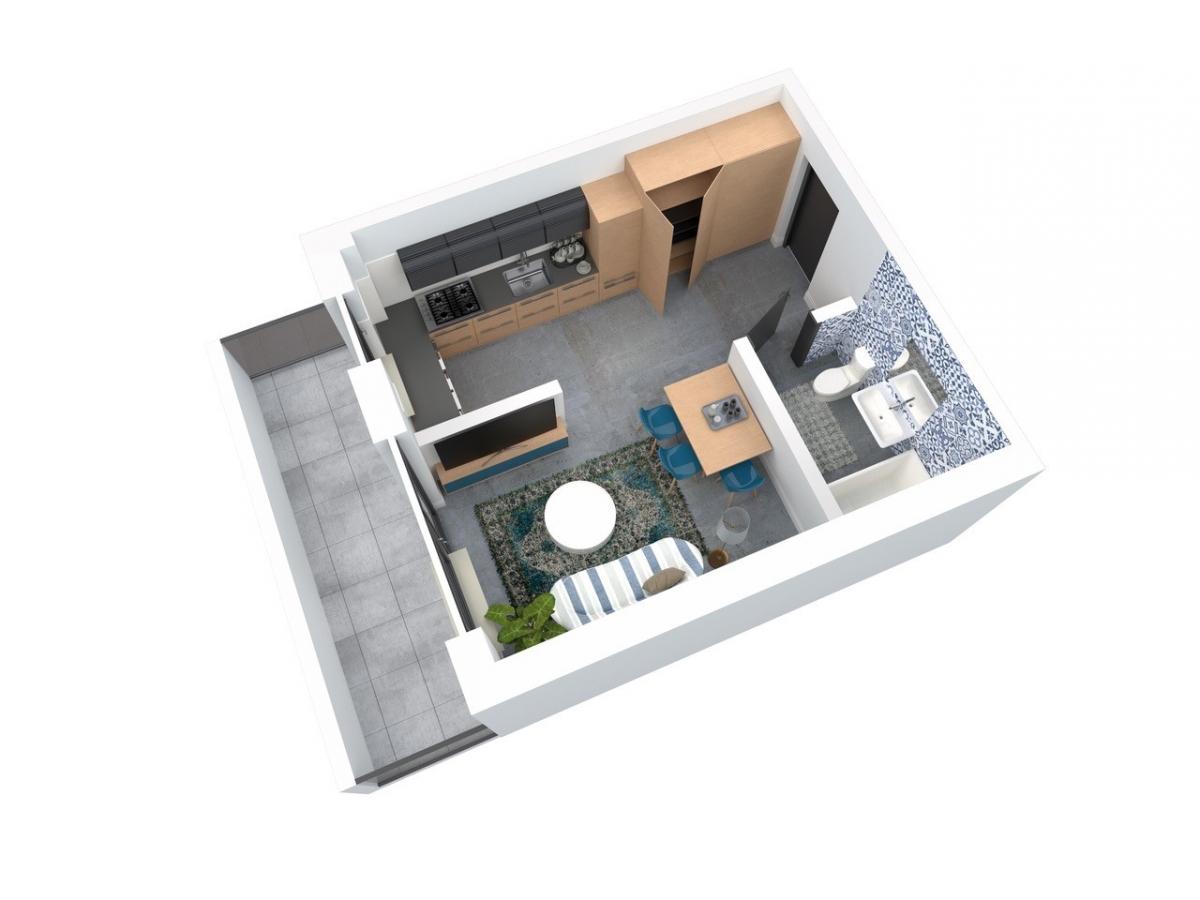 Mieszkanie 28,81 m2, Architektów, Rzeszów