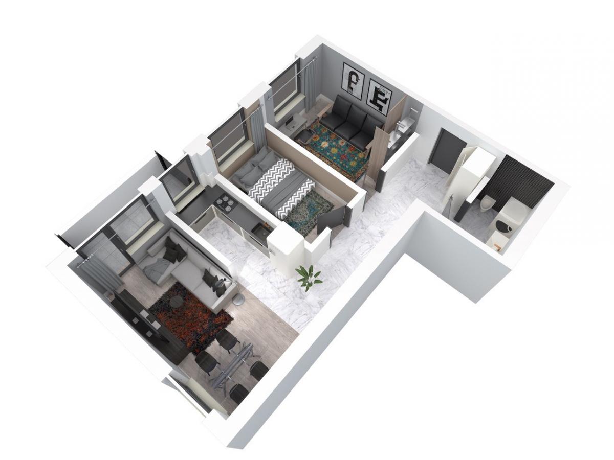 Mieszkanie 60,33 m2, Architektów, Rzeszów