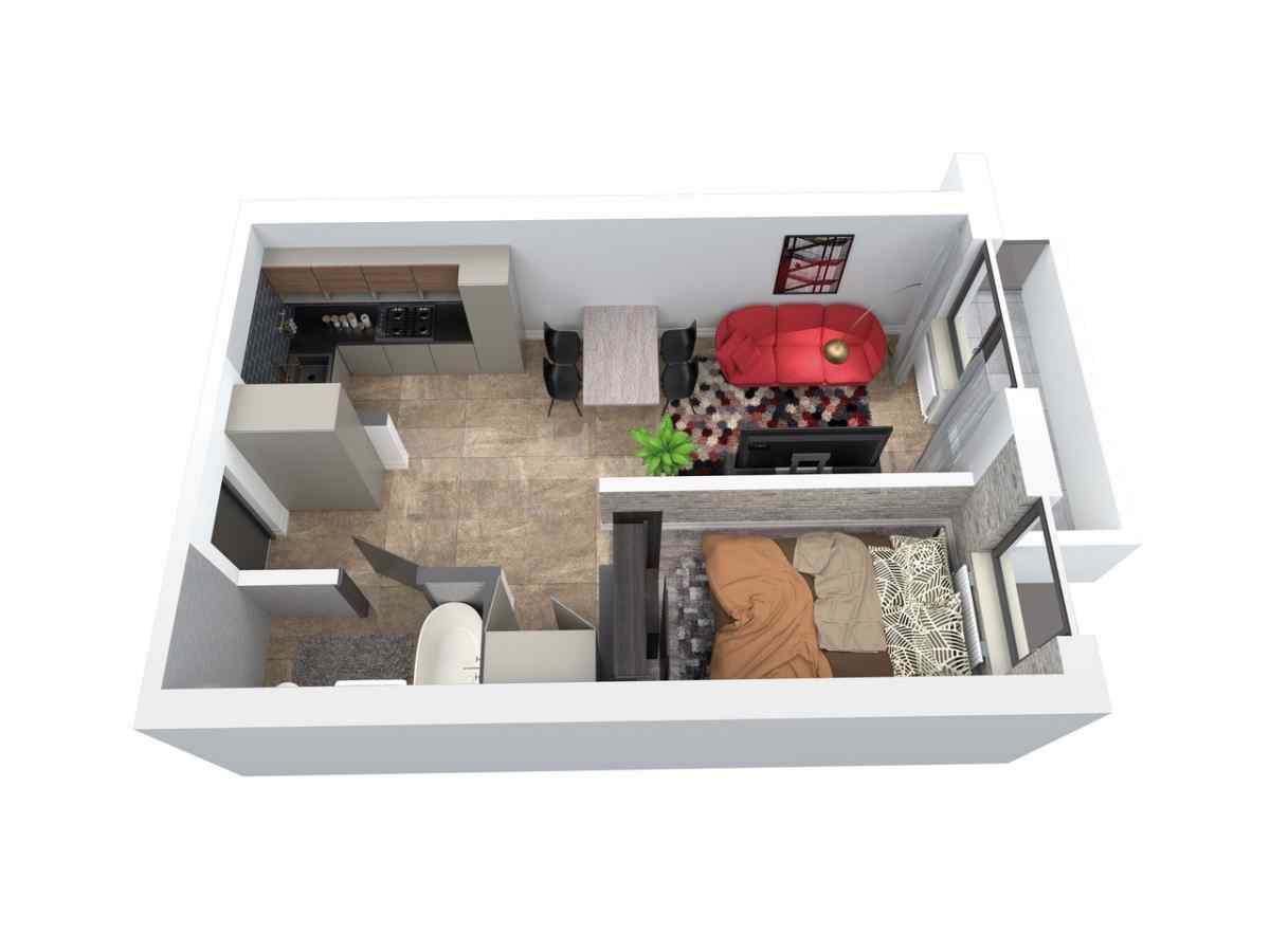 Mieszkanie 46,1 m2, Architektów, Rzeszów