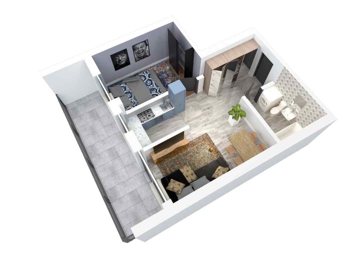 Mieszkanie 45,53 m2, Architektów, Rzeszów