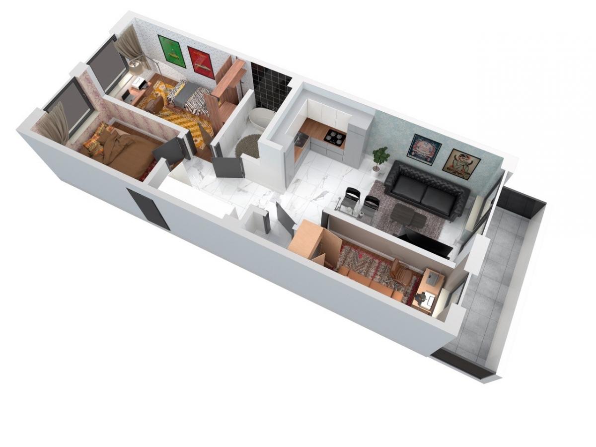 Mieszkanie 62,05 m2, Architektów, Rzeszów