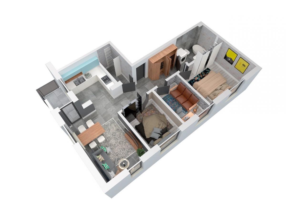 Mieszkanie 74,95 m2, Architektów, Rzeszów