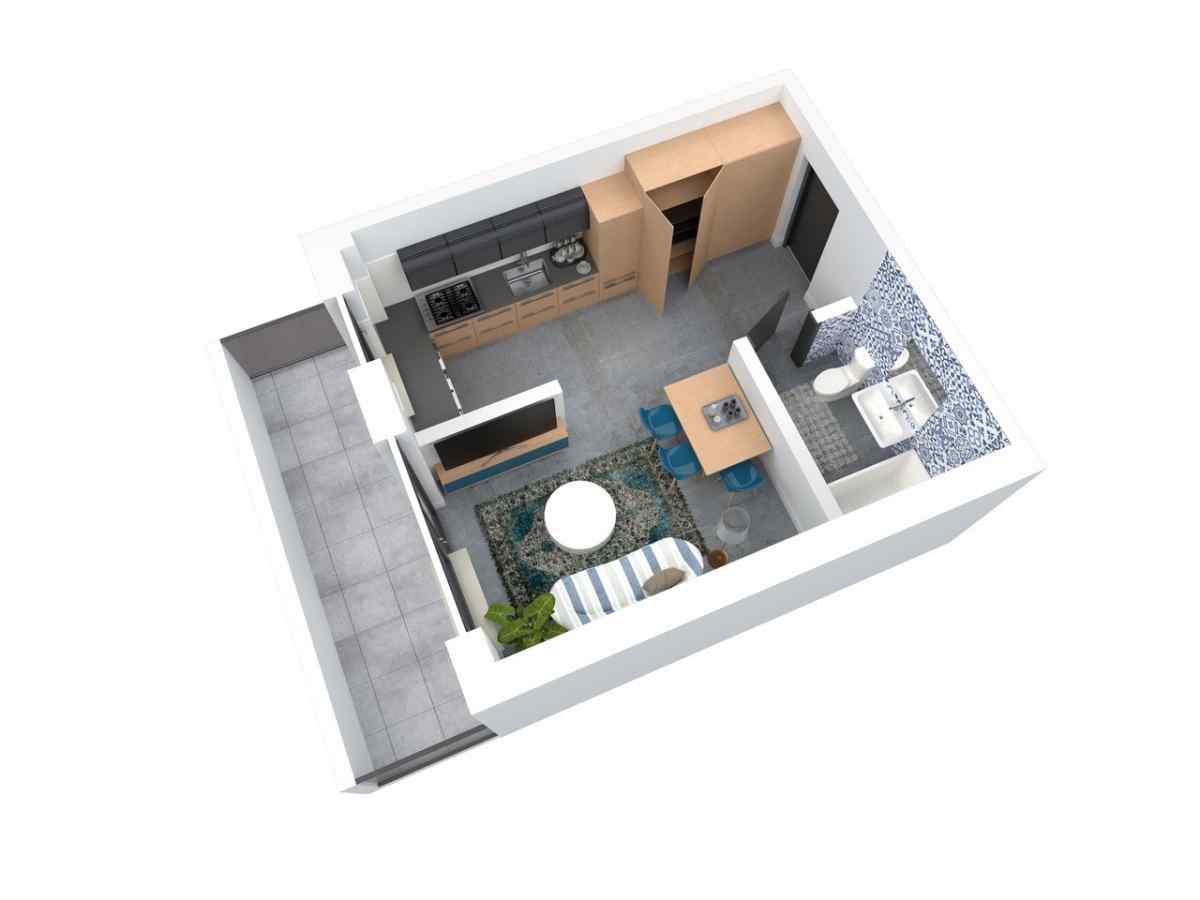 Mieszkanie 28,66 m2, Architektów, Rzeszów