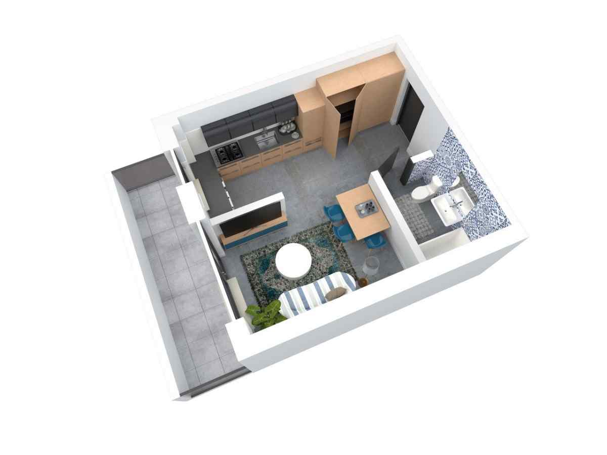 Mieszkanie 28,57 m2, Architektów, Rzeszów