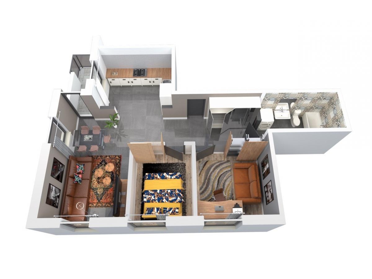 Mieszkanie 64,01 m2, Architektów, Rzeszów