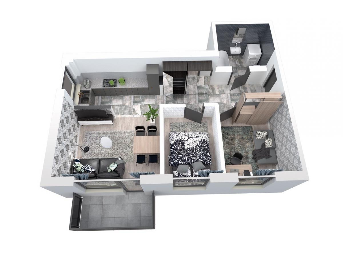 Mieszkanie 59,11 m2, Architektów, Rzeszów