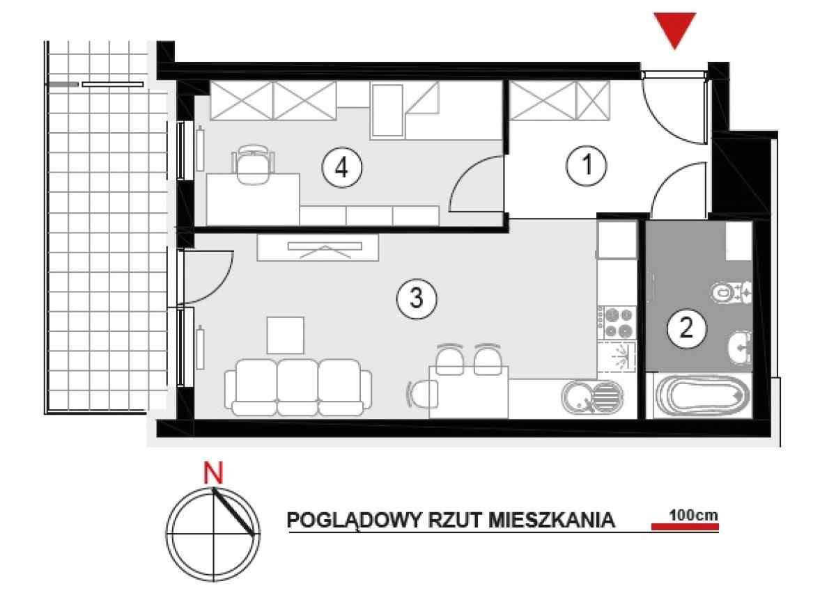 Mieszkanie 40,89 m2, Architektów, Rzeszów