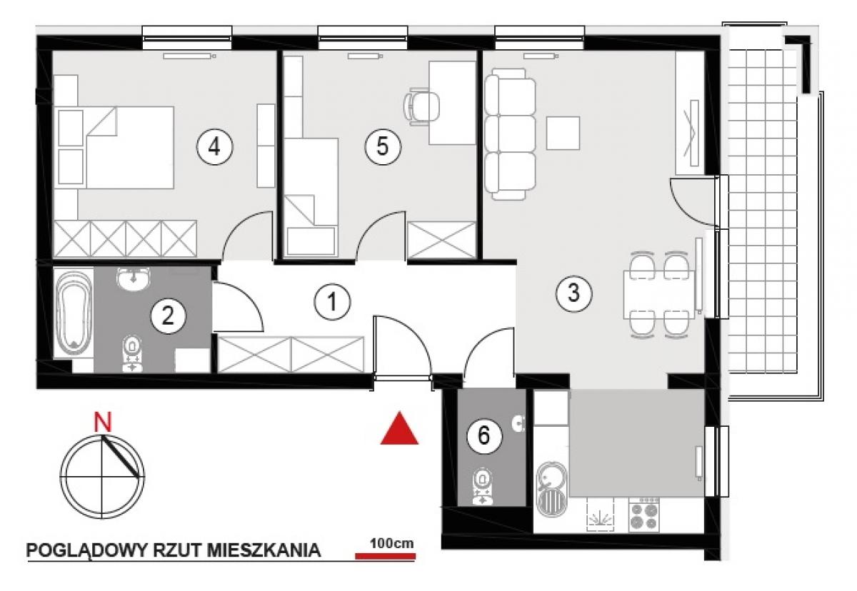 Mieszkanie 67,5 m2, Architektów, Rzeszów