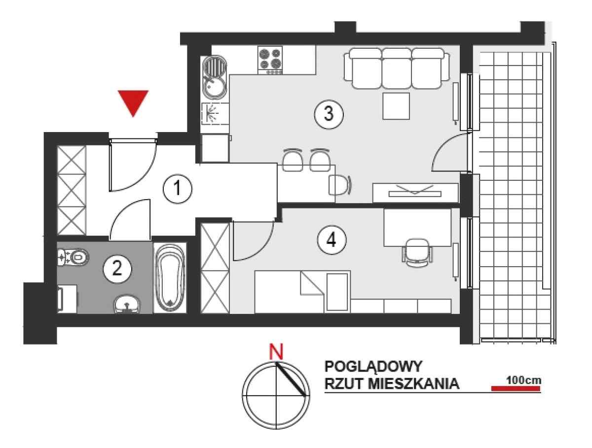 Mieszkanie 39,65 m2, Architektów, Rzeszów