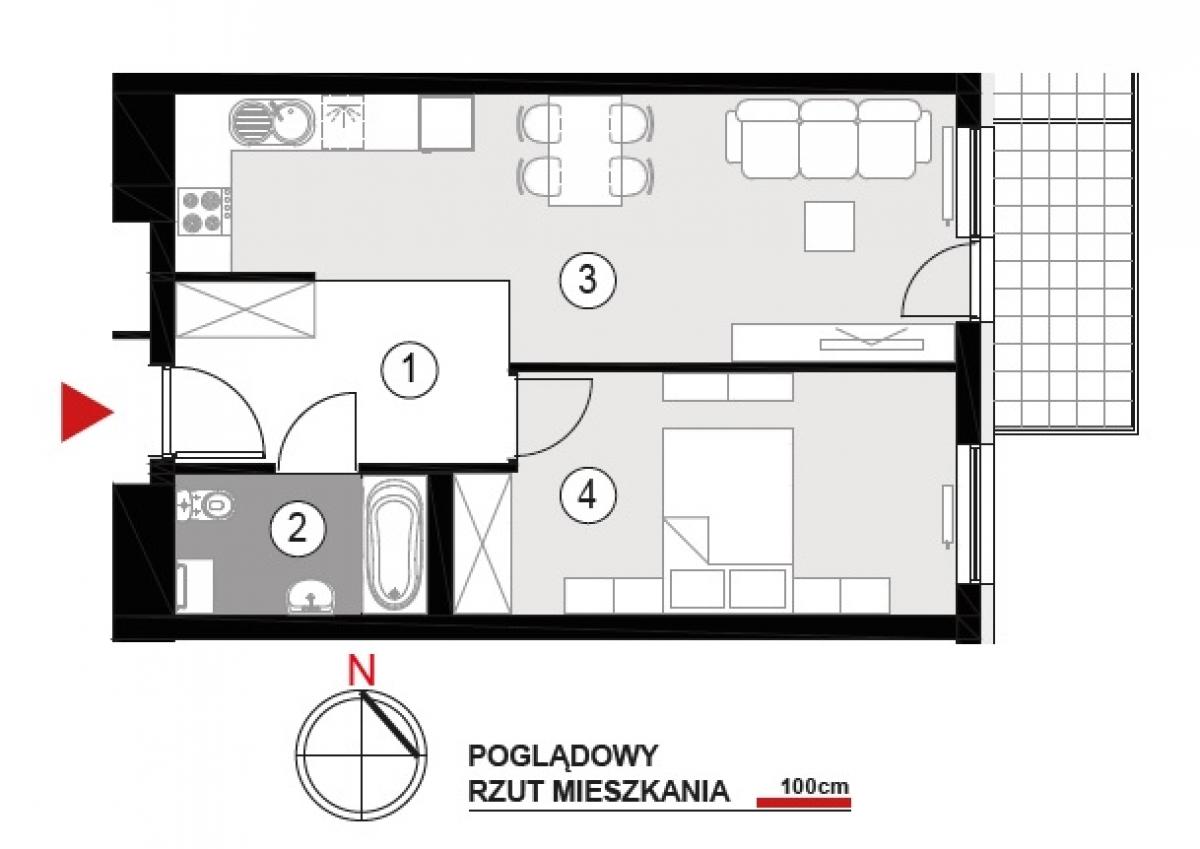 Mieszkanie 46 m2, Architektów, Rzeszów