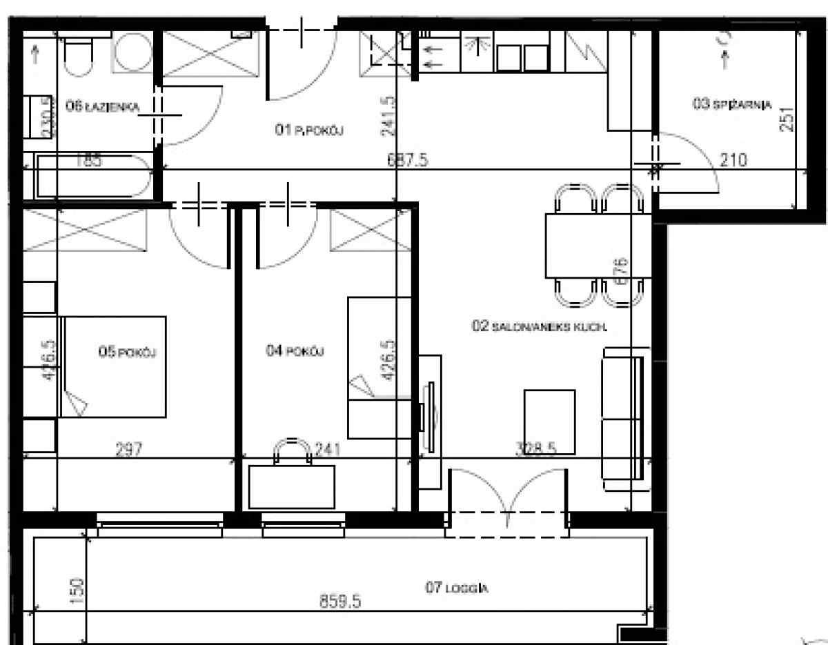 Mieszkanie 62,95 m2, Warszawska/Lubelska, Rzeszów