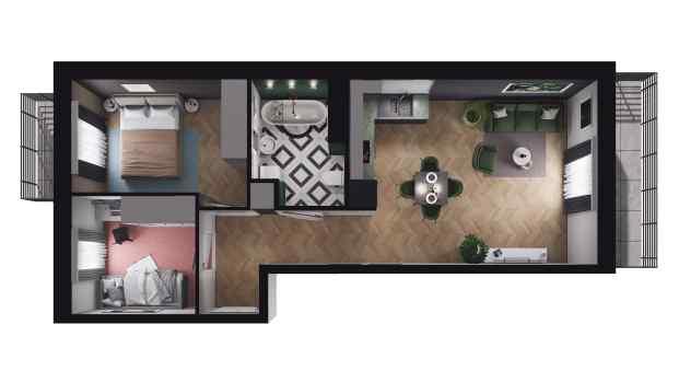 Mieszkanie 50.42 m2