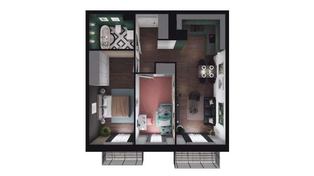 Mieszkanie 52.99 m2