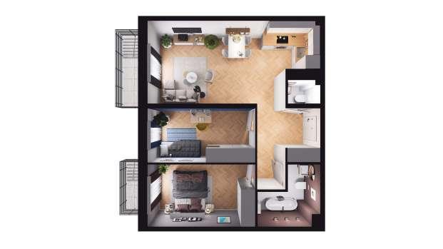 Mieszkanie 59.65 m2