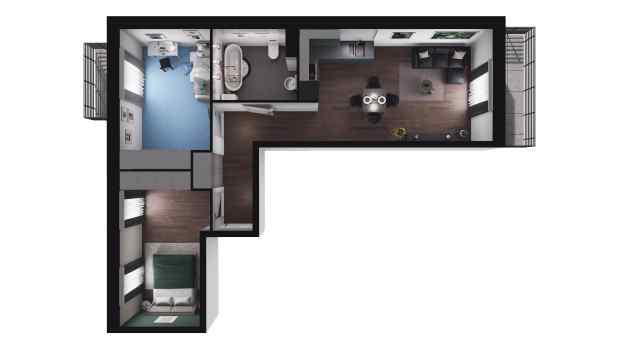 Mieszkanie 58.36 m2