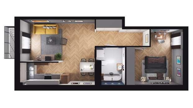 Mieszkanie 49.67 m2