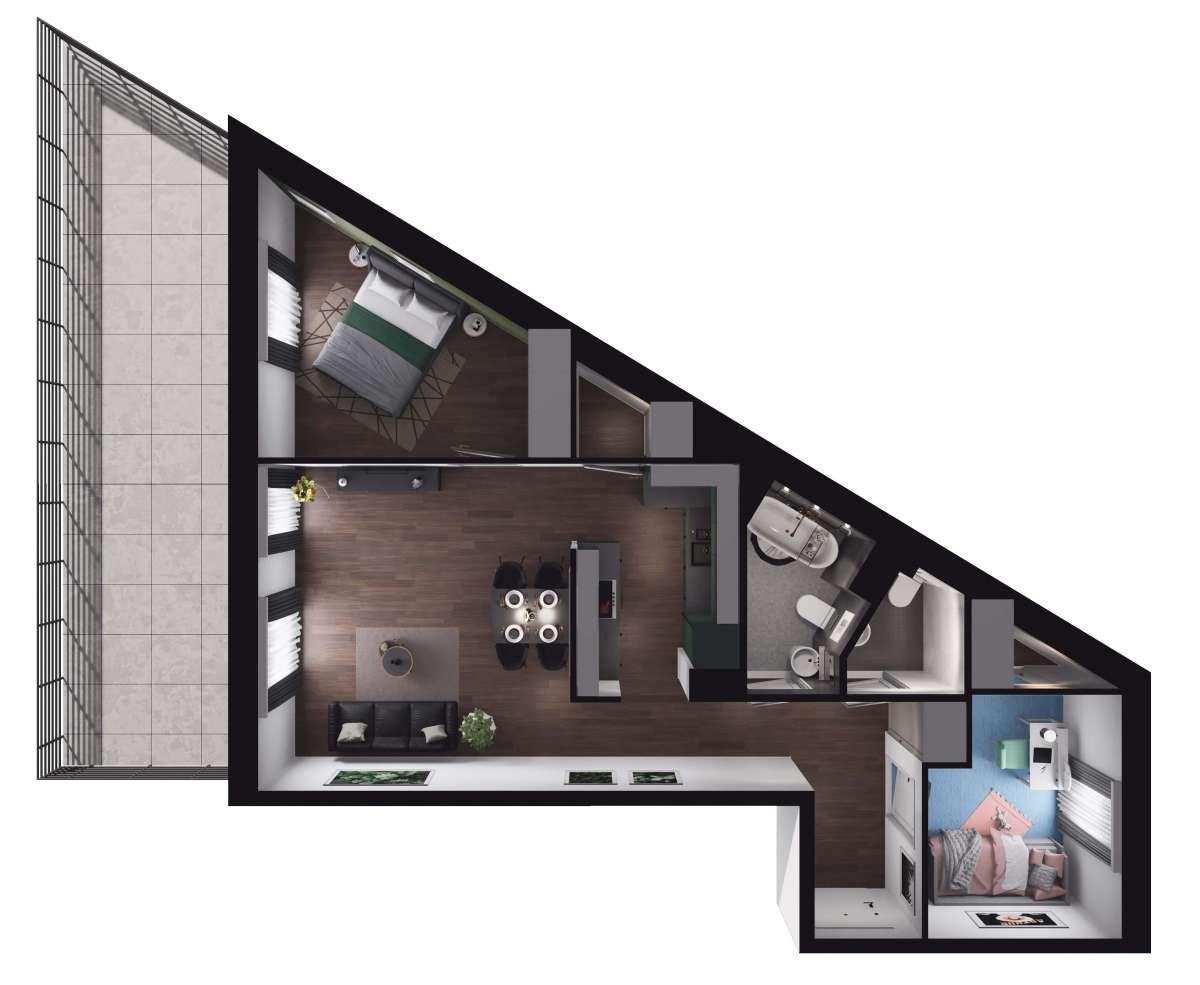 Mieszkanie 62,16 m2, Paderewskiego, Rzeszów