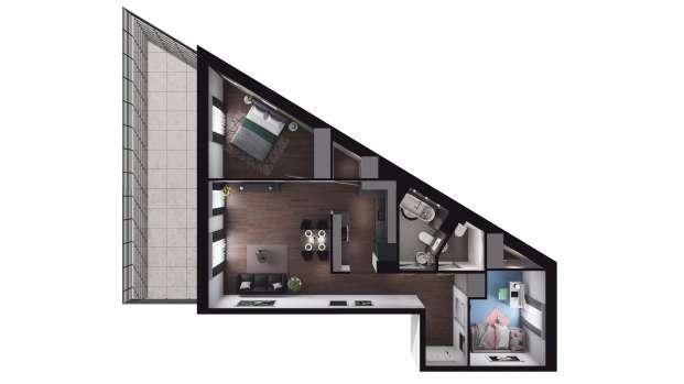 Mieszkanie 62.05 m2