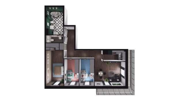 Mieszkanie 77.10 m2