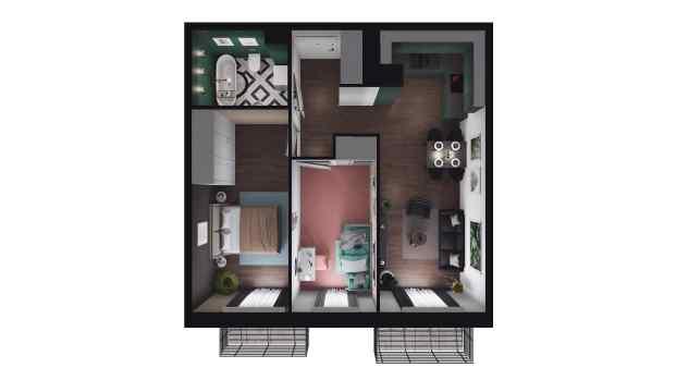 Mieszkanie 53.08 m2