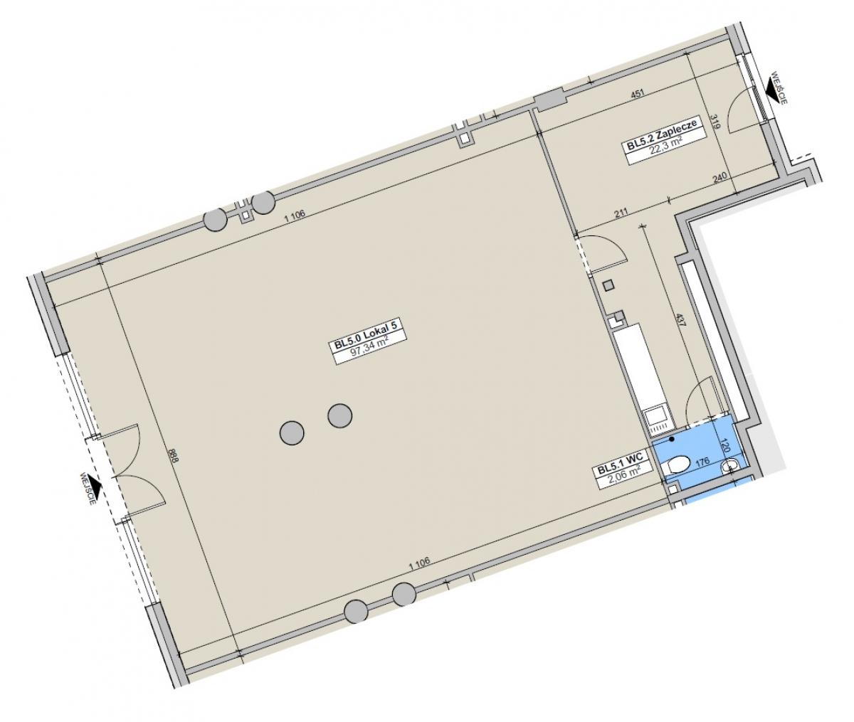 Lokal usługowy 120,64 m2, Paderewskiego, Rzeszów