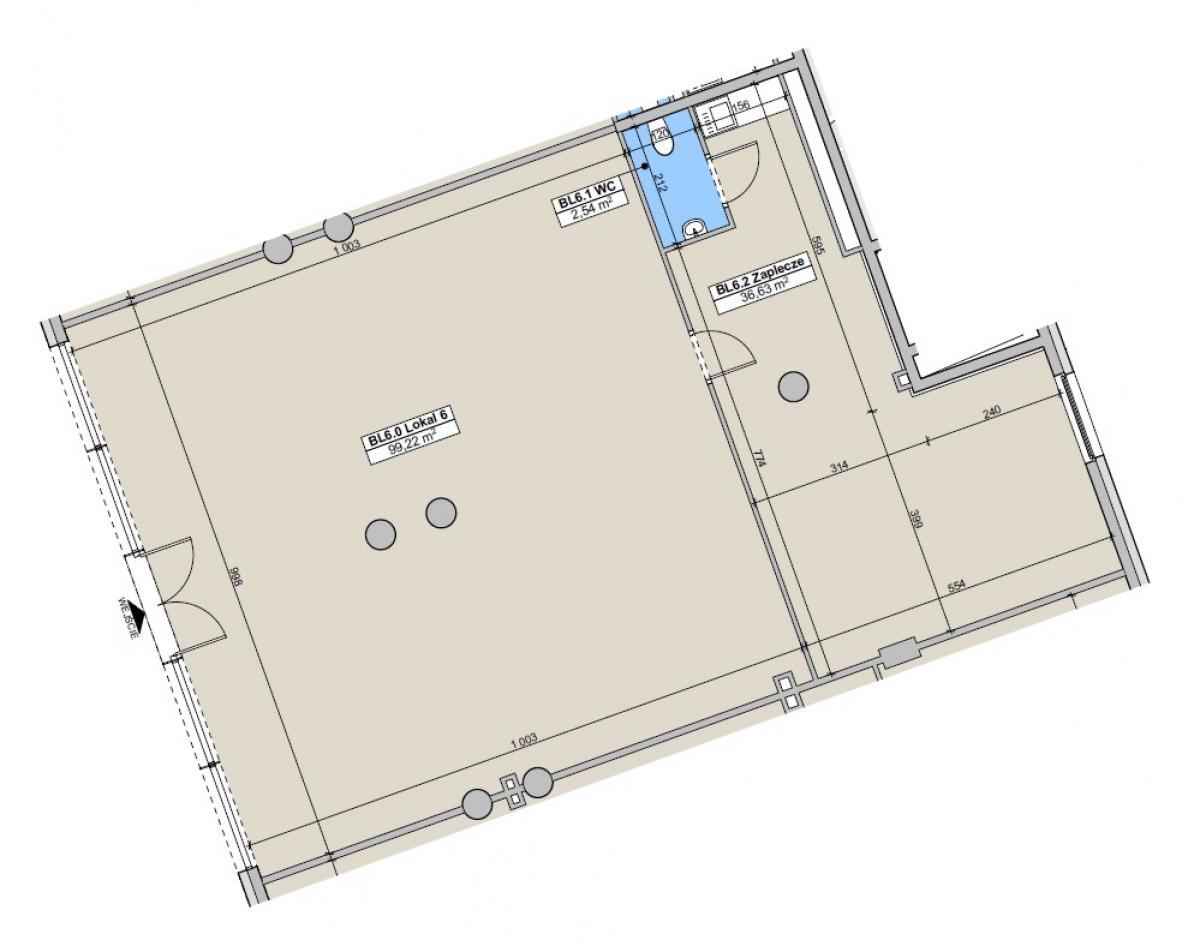 Lokal usługowy 138,31 m2, Paderewskiego, Rzeszów