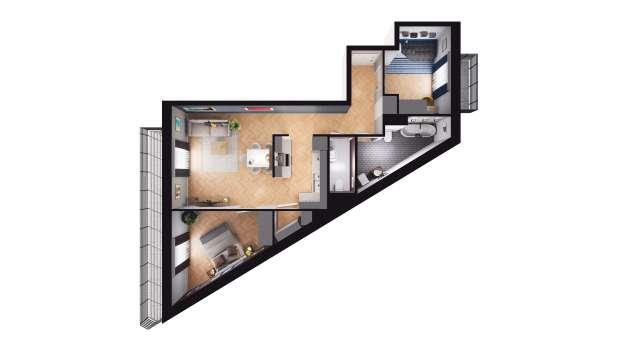 Mieszkanie 64.57 m2