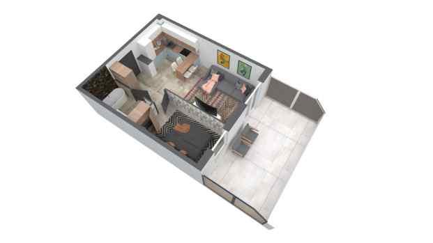Mieszkanie 44.05 m2