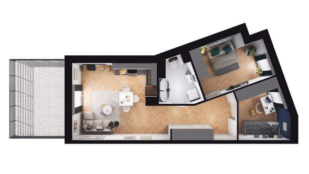 Mieszkanie 49.46 m2