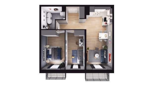 Mieszkanie 56.79 m2