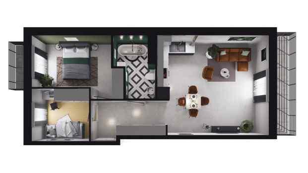 Mieszkanie 56.32 m2