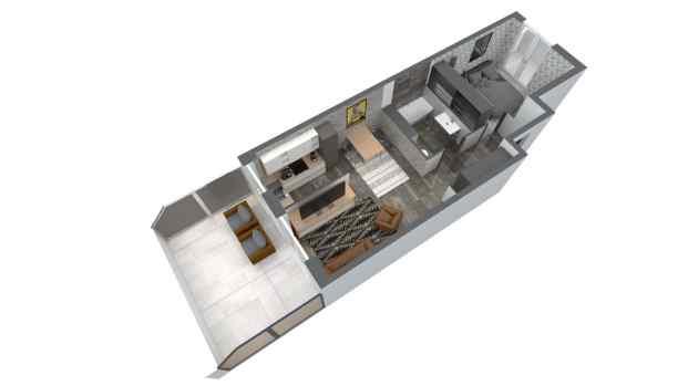 Mieszkanie 47.70 m2