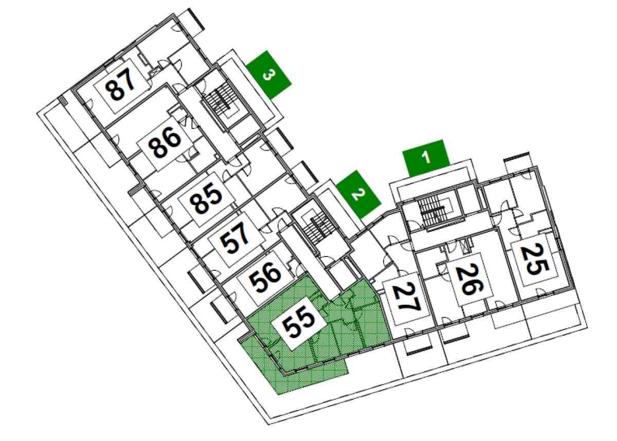 Mieszkanie 73,08 m2, Paderewskiego, Rzeszów