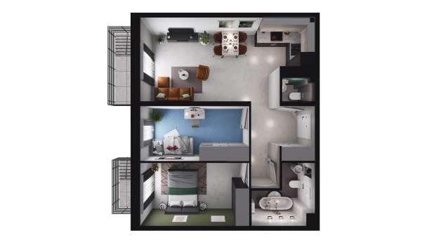 Mieszkanie 59.90 m2
