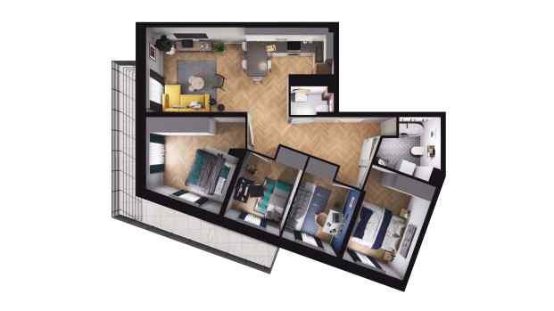Mieszkanie 72.57 m2