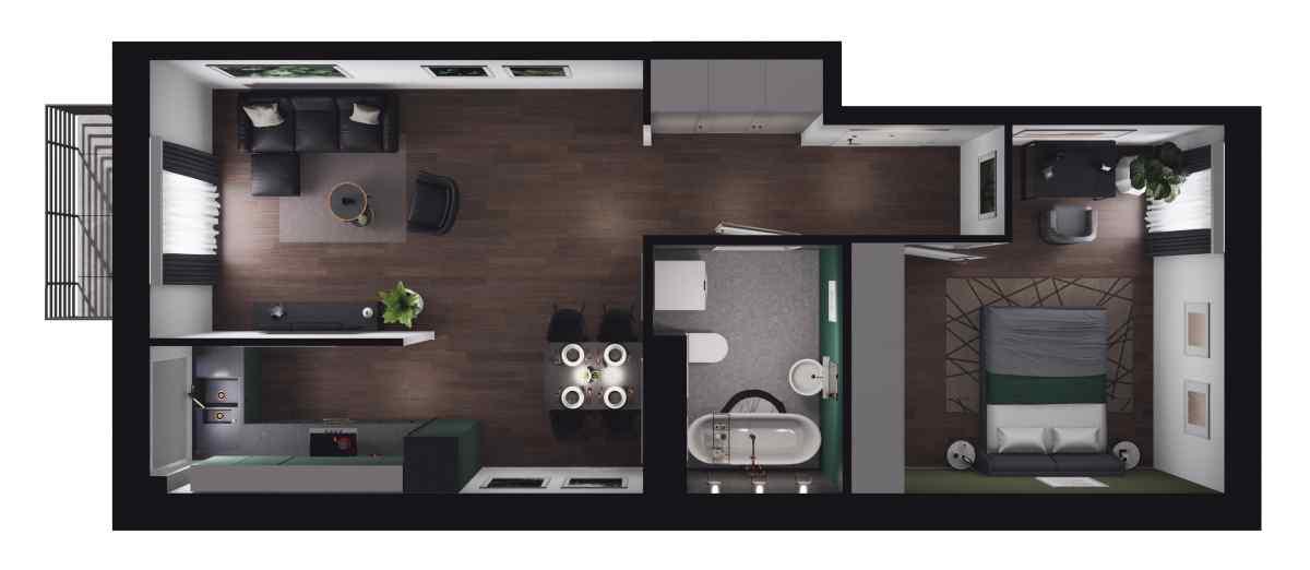 Mieszkanie 49,72 m2, Paderewskiego, Rzeszów