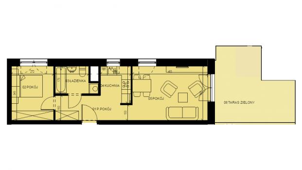 Mieszkanie 42.16 m2