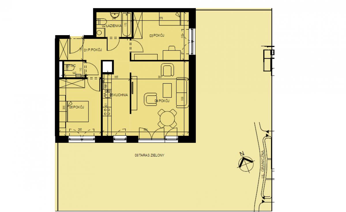 Mieszkanie 66,14 m2, Graniczna, Rzeszów