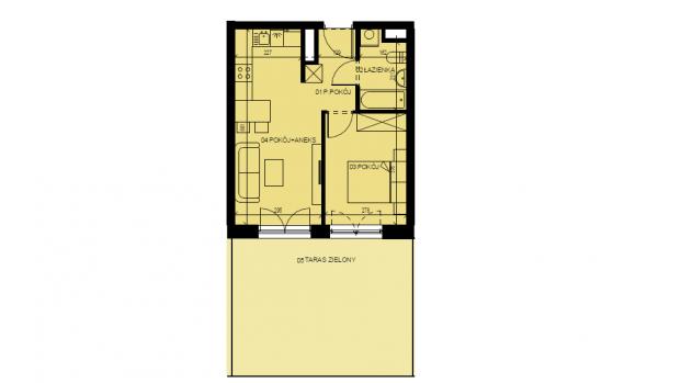 Mieszkanie 36.53 m2