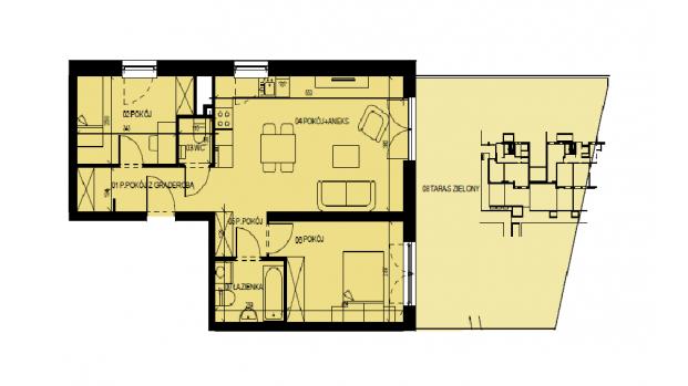 Mieszkanie 60.93 m2