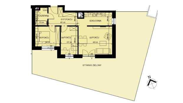 Mieszkanie 58.34 m2